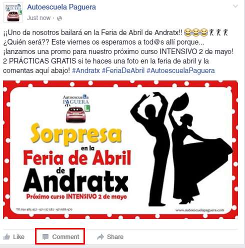 facebook autoescuela paguera en andratx